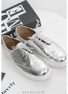 1717-1046只有size 245 ,足碼-強烈推介-牛津紳士款 X 厚底波鞋仔 (韓國)