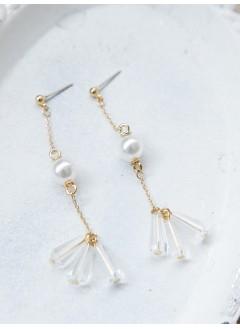 181-1028 - 氣質款 -立體SO SO X 墜擺,  純銀針耳環 (韓國)