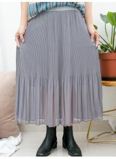 1916-1376B-超強・打底- 下擺百摺雪紡料 X COTTON料 , 吊帶底裙 (下半身有厘布) (韓國)