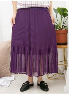 1916-1376C -超強・打底-下擺百摺雪紡料 X COTTON料 , 吊帶底裙 (下半身有厘布) (韓國)-