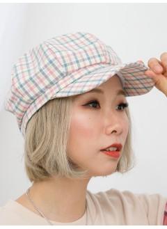 1919-1008 - 日系・格仔 -拼色格仔PATTERN X 西瓜帽 (韓國)