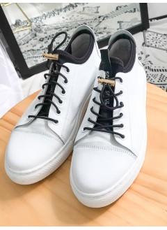 1917-1008 索帶 X 拼色 , 厚底真皮鞋 (韓國)