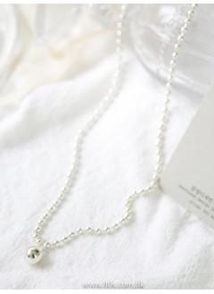 193-1009- 簡潔・純銀 -- 925 純銀波波頸鏈(韓國)