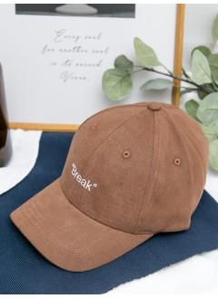 1919-1025A -- 刺繡・cap帽 -- ' BREAK ' 英文字刺繡 , CAP帽 (韓國)0