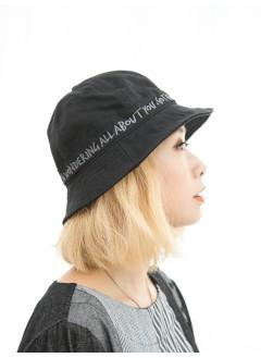1919-1027a-日系・魚夫帽- 英文字刺繡 X 扯布料 , 魚夫帽 (韓國)0