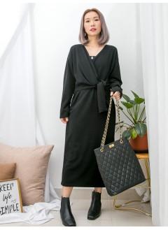 1916-1389- 優雅・裙子 - 單邊腰位束繩 X 雙面料OPS (韓國)0