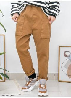 2015-1008 - 男友褲 -前兩袋 X 橡根腰 , 扯布料 X 少低浪褲 (韓國)0
