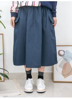2015-1005 - 微微・泡泡 -兩側袋 X 橡根腰束繩 , 恤衫料半截裙 (韓國)0