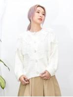 2013-1040 - 兩著款 -全開胸扣鈕 X 領邊通花LACE , 冷料外套 (韓國) -