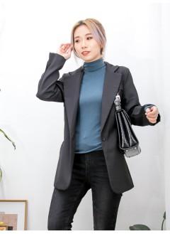 2013-1044 - 好顯瘦 -前兩袋 X 滑滑扯布料 , 西裝褸 (有厘布) (韓國)