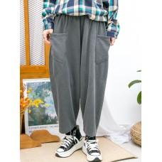 2015-1172-寬鬆・日系- 前兩袋 X 橡根腰 , 薄衛衣料 X 低浪褲 (韓國) 0