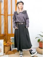 2011-1600 - BB・領 -反領位通花刺繡恤衫料 X 麻棉料TOP (韓國) 0