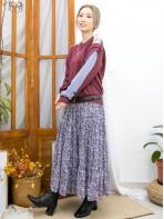 2011-1621A - 特式・設計 -膊位LACE X 手袖拼色 , 薄衛衣料TOP (韓國) -