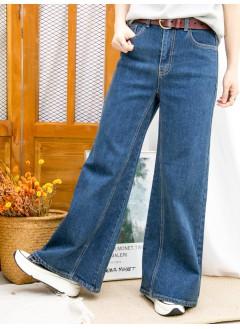 2015-1207 - 柔軟・型格 -後腰橡根 X 前腰扣鈕  , 牛仔喇叭褲 (韓國)