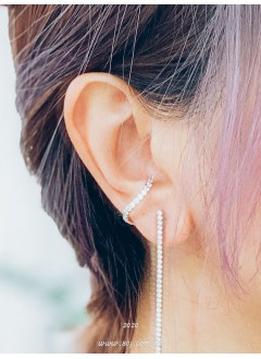 201-1001 - 耳窩 -閃石 X 開口圈圈 , 耳窩位款耳環 (韓國)