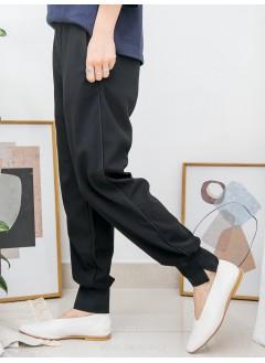 2015-1021 - 斯文 ? 悠閒 ?-兩側袋 X 橡根腰 , 腳位小開叉 X 橡根位 , 雙面料褲 (韓國)