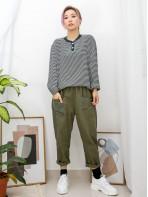 2011-1085A - 日系・橫間 -領位開胸扣鈕 X 羅紋料 , 橫間COTTON料TOP (韓國)0