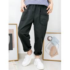 2015-1027 -lace・男友褲-前兩袋 X 通通刺繡 , 橡根腰 X 扯布料 , 少低浪褲 (韓國)0