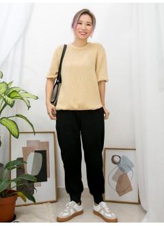 2011-1083-簡約・美態- 下擺兩旁開叉 X 薄線仔TOP (韓國)