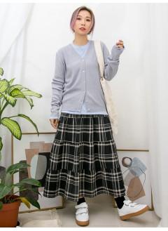2013-1012A -靚色・單品-全開胸扣鈕 X V領 , 坑紋線仔料外套 (韓國)0