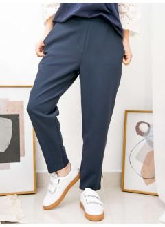 2015-1020 - 韓劇・效應 -腳位後幅橡根 X 兩側袋 , 後腰橡根 X 滑滑扯布料 , 直腳褲 (韓國)-