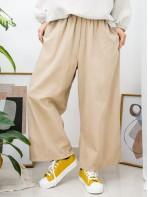 2015-1037A - 超・舒・服 -兩側袋 X 橡根腰 , 麻棉料闊褲 (韓國)-