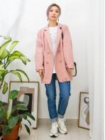 2013-1015-寫意・西裝- 前兩袋 X 孖襟款 , 麻棉料西裝褸 (韓國)0