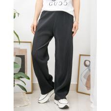 2015-1041-超・適・服- 橡根腰 X 坑紋 , 雙面料闊褲 (韓國)-