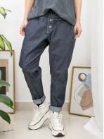 2015-1050A- 日系・男友褲 - 兩側袋 X 橡根腰 , 扯布料X 少低浪褲 (韓國)-