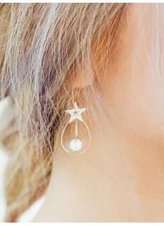 201-1019 bling bling star 圈圈耳環 (韓國)0