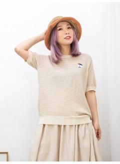 2011-1155A- 超可愛 -' 狗仔 ' 刺繡 X 橫間線仔料TOP (韓國)0