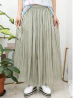 2015-1067-高質・氣質-橡根腰 X 縐縐滑滑料 , 半截裙 (有厘布) (韓國)0