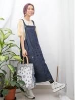 2016-1041- 日系・風格 - 後幅下擺開叉 X 前兩袋 , 牛仔料工人裙 (韓國)0