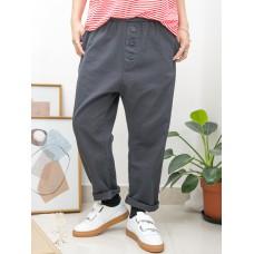 2015-1088-日系・男友- 兩側袋 X 橡根腰 , 扯布料 X 少低浪褲 (韓國)-