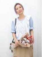 2011-1280-fancy・color- 袖口橡根 X 前幅通花刺繡恤衫料 X RUFFLE邊 , 淨色COTTON料TOP (韓國)0