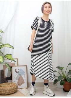2016-1055 - 舒適・橫間 -胸袋位 X 斜間 X 橫間 , 拼色COTTON料OPS (韓國)