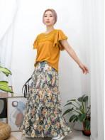 2011-1320-蕾絲・氣質- 領位 , 袖口通花棉LACE X RUFFLE手袖 , COTTON料TOP (韓國)-