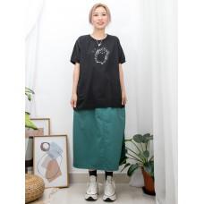 2011-1333-刺蝟・BB- 兩側袋 X 刺蝟PRINT , 袖口 , 領位羅紋料 X 麻棉料TOP (韓國)0