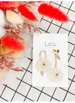 201-1024 花系lace耳環 (韓國)0