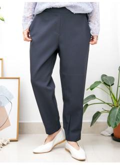 2015-1149-百搭・西褲- 後幅腳位橡根 X 兩側袋 , 後腰橡根 X 滑滑扯布料褲 (韓國)  -