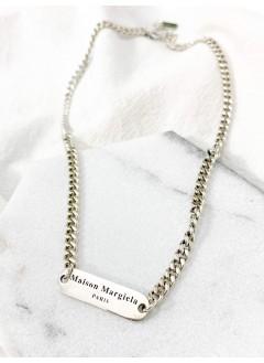 213-1001-- 925 純銀 -- 長方形 英文字 頸鏈(韓國)-