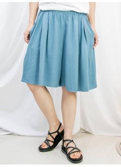 2115-1204B- 超舒服 - 兩側袋 X 橡根腰 , 麻棉料闊短褲 (韓國)