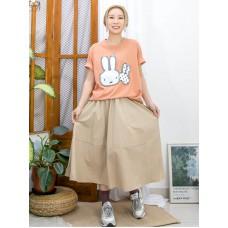 2111-1120 ' 兔兔 ' 刺繡 X COTTON料TOP (韓國)-