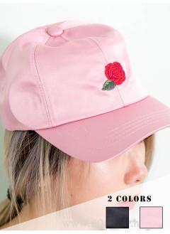 19-1015,刺繡玫瑰花 CAP 帽